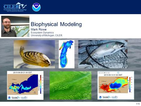 1/15 Place Photo Here Biophysical Modeling Mark Rowe Ecosystem Dynamics University of Michigan, CILER.