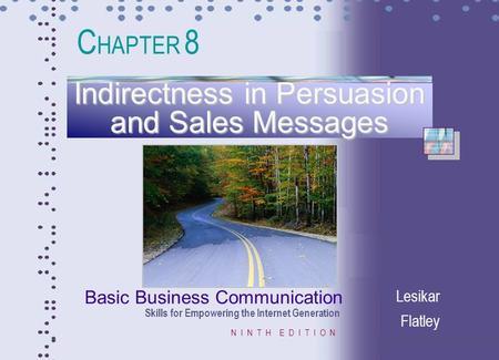 COMMUNICATION BASIC PDF FLATLEY BUSINESS LESIKAR