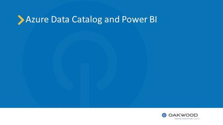 Azure Data Catalog and Power BI. Agenda Azure Data Catalog Overview 1 Publish a data set 2 Metadata 3 Extract and view 4 Q&A 5.