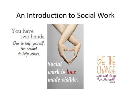 An Introduction to Social Work. A little about me... Originally wanted to be a Physiotherapist! This fell through! Got a job as a carer with Medway Council.