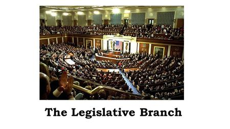 The Legislative Branch. Legislative Branch Review 1.Function: Make the Laws 2.Congressional Joint Powers A.Levy and collect taxes B.Raise and maintain.