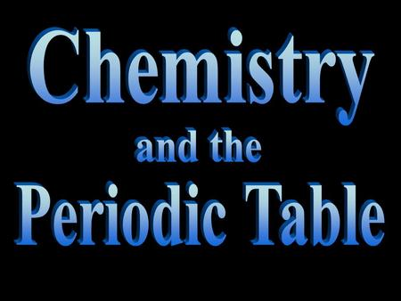 What is Chemistry? Chemistry Chemistry is the study of matter and how matter changes.