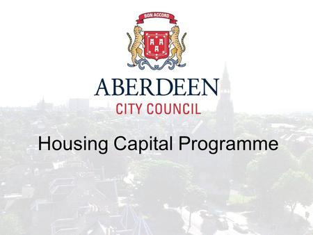 Housing Capital Programme. How is work identified? Stock Condition Survey Structural Surveys Life-cycle replacement Proposals from Area Housing Teams.