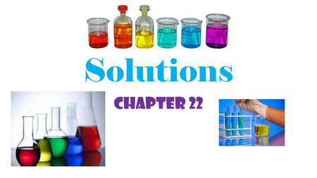 Solutions Chapter 22. How solutions form Solution-a mixture that appears the same throughout and is mixed at the molecular level. 1.solute- substance.