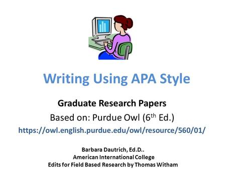 Apa quantitative research paper