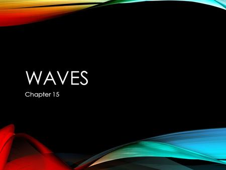WAVES Chapter 15. TYPES OF WAVES Section 1 2 WAVES Wave: a movement of energy with no net movement of matter. Like the wave done at a football game.