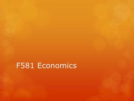 F581 Economics. Demand & Supply Question  Impact depends upon the extent of the shift.  If demand shifts, the impact will depend on elasticity of supply.