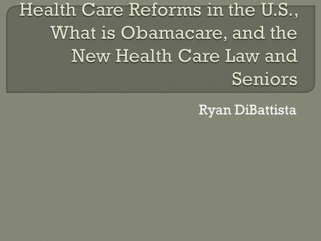 Ryan DiBattista.  Medicaid:  -specifically targeted at individuals and families on low income and few resources.  - means tested program which is funded.