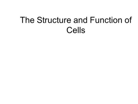 The Structure and Function of Cells. Cell Bellwork #1 Did you bring your representative organelle from home? (If not, find something really quick!) Do.