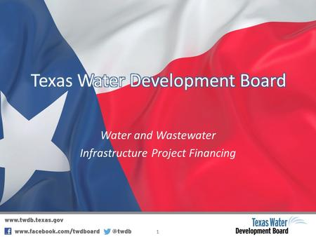 Water and Wastewater Infrastructure Project Financing 1.