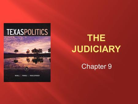 Chapter 9. After reading this chapter, students should be able to  Discuss the judiciary as a political branch of government.  Describe the major players.