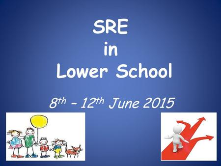 SRE in Lower School 8 th – 12 th June 2015. The National Curriculum framework document states that: 'All schools should make provision for personal, social,