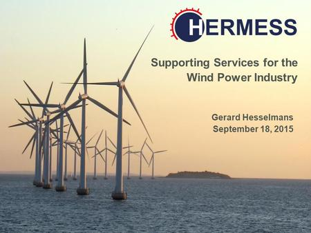 Data Applied Research Consultancy Services Supporting Services for the Wind Power Industry Gerard Hesselmans September 18, 2015.