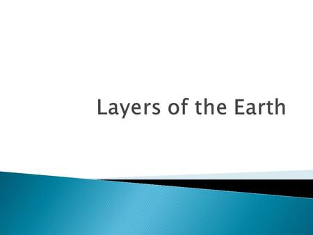 Describe the main layers of the Earth: ◦ Crust ◦ Mantle ◦ Outer Core ◦ Inner Core  Describe the sublayers of the Earth ◦ Lithosphere ◦ Asthenosphere.