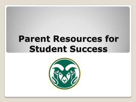 Parent Resources for Student Success. Credit Recovery Information Students NEED 26 credits to graduate There is little/no room for failure Credit Recovery.