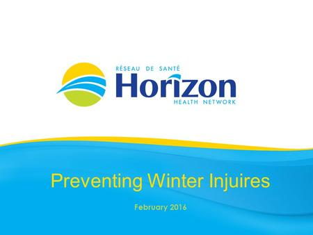 Preventing Winter Injuires February 2016. Health Info prepared by Public Health February 2016.