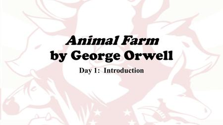 By george orwell a novel introducing