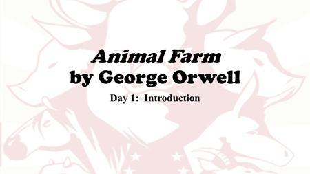 george orwell animal farm introduction pdf