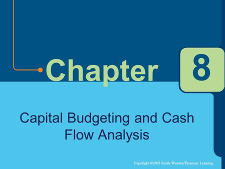 Copyright ©2003 South-Western/Thomson Learning Chapter 8 Capital Budgeting and Cash Flow Analysis.