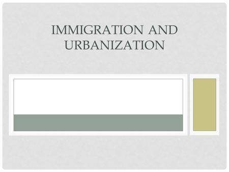 IMMIGRATION AND URBANIZATION. AMERICA…. Where anyone can be a success? Where everyone has an equal chance ?