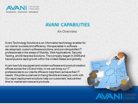AVANI CAPABILITIES An Overview