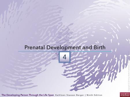Prenatal Growth Three main periods of prenatal development Germinal Period (1st two weeks after conception): Rapid cell division and beginning of cell.