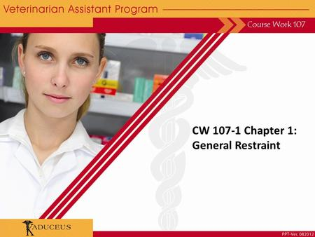 CW 107-1 Chapter 1: General Restraint Course Work 107.