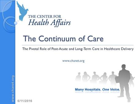 The Continuum of Care The Pivotal Role of Post-Acute and Long-Term Care in Healthcare Delivery www.chanet.org For full citation information please see.