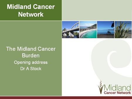 Midland Cancer Network 2012 Clinical Performance Conference.