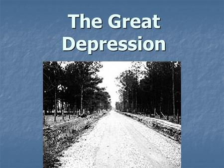 The Great Depression. Causes – Stock Market Over speculation in the stock market caused the collapse of stock prices Over speculation in the stock market.