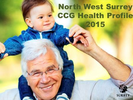 North West Surrey CCG Health Profile 2015. Health Profile Summary Population – current, projected & specific groups Wider determinants Health behaviours.