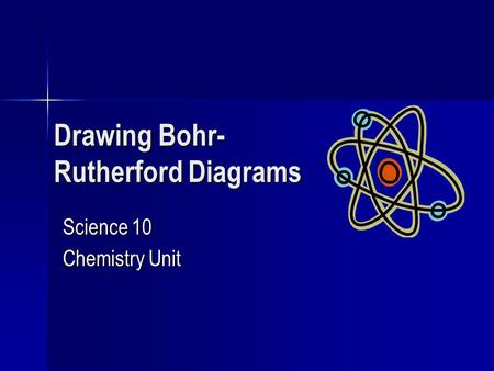Drawing Bohr- Rutherford Diagrams Science 10 Chemistry Unit.