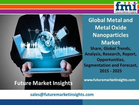 Global Metal and Metal Oxide Nanoparticles Market Share, Global Trends, Analysis, Research, Report, Opportunities, Segmentation.