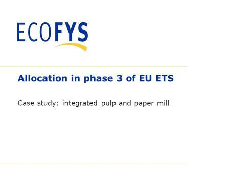 Eu emissions trading system phase 3