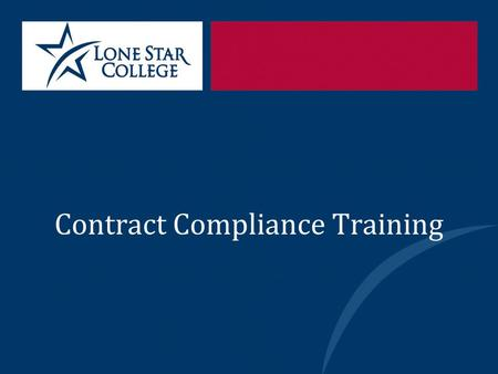 Contract Compliance Training. Department Personnel Office of the General Counsel (OGC) Mario K. Castillo General Counsel John Guest Deputy General Counsel.