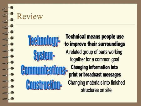 Review Manufacturing Materials The basic ingredient for Technology.