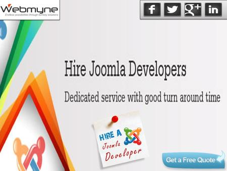 """To get the best results for your website it could be better if you secure services of a Joomla web development company as Joomla based content management."