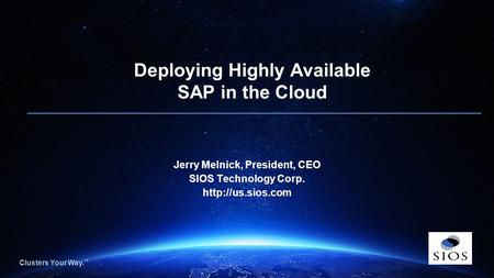 Deploying Highly Available SAP in the Cloud