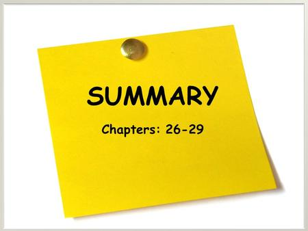 SUMMARY Chapters: 26-29. Chapter 26 interest The fee that borrowers pay to lenders for the use of their funds. The total quantity of money demanded in.