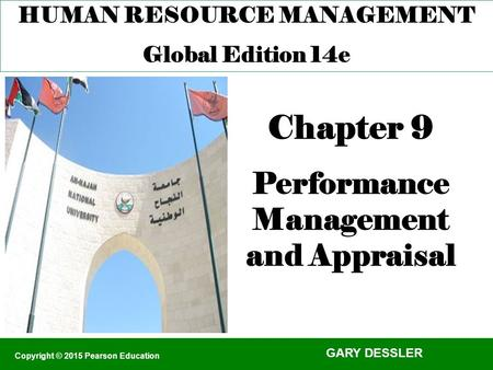 Chapter 9 Performance Management and Appraisal