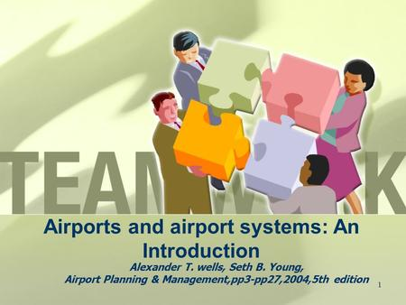 1 Airports and airport systems: An Introduction Alexander T. wells, Seth B. Young, Airport Planning & Management,pp3-pp27,2004,5th edition.