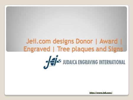 Jeii.com designs Donor | Award | Engraved | Tree plaques and Signs.