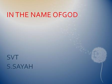 IN THE NAME OFGODIN THE NAME OFGOD SVTS.SAYAH.  All cardiac tachyarrhythmias are produced by: 1/disorders of impulse initiation :automatic 2/abnormalities.