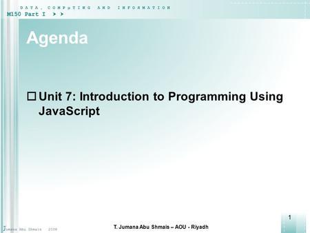 unit 7 programming