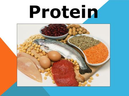 Protein. 1. Carbohydrates 2. Lipids 3. Protein- 4 calories per gram 4. Vitamins 5. Minerals 6. Water.