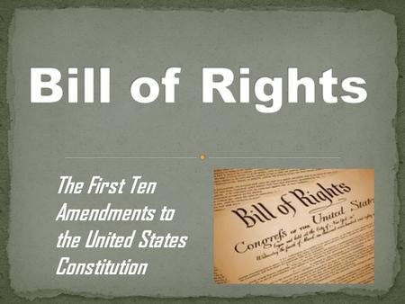Bill of rights amendments essay