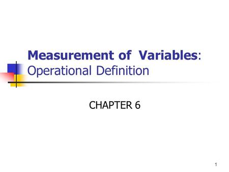 Custom Measuring Variables Essay