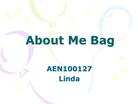 About Me Bag AEN100127Linda. About My Past boarding card for ferry.