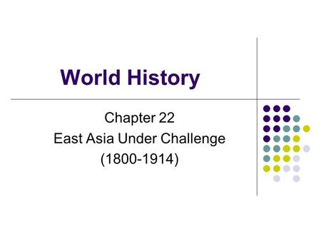 Chapter 22 East Asia Under Challenge ( )