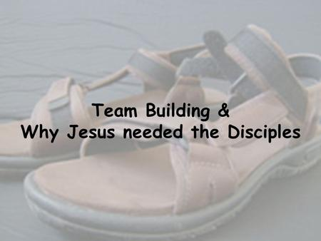 Team Building & Why Jesus needed the Disciples. Team Building Exercise.